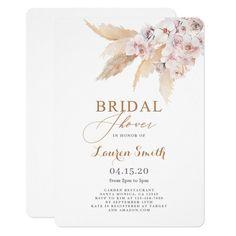 Wedding Shower Invitations, Custom Invitations, Bohemian Bride, Boho, Eucalyptus Shower, 2nd Baby, Pampas Grass, Bridal Shower Decorations, Shower Ideas