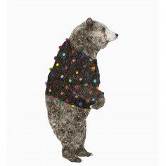"""""""Oso Pompom"""" (mayo 2014) Una de mis ilustraciones que siempre pillo dando vueltas por ahí en la web. También aparece en el libro cool illustration #illustration #ilustración #draw #danieladahf #bear #dibujo #grizzlybear #artwork"""