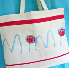 Custom Mother's Day handbag gift. #crafts #bags #Martha Stewart