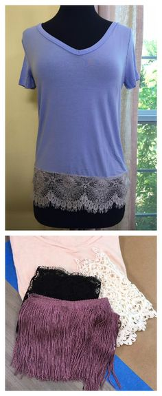 Goodness, these lace tees are just too cute! DIY by @tmemme28 on Home and Family!