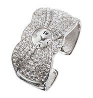 Rhinestone Embellished Cuff Watch $19.99 Purchase at:  www.youravon.com/pamelataylor