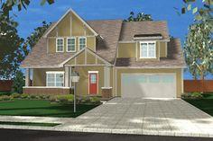 Tudor Style House Plan - 4 Beds 2.5 Baths 1827 Sq/Ft Plan #455-178 Exterior - Front Elevation - Houseplans.com