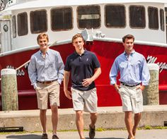 Classic New England preppy men's style. Khaki shorts, sport shirts, polos, pants and accessories. Preppy Outfits, Preppy Style, Men's Style, New England Prep, New England Style, Preppy Mens Fashion, Men Fashion, Nantucket Style, Cape Cod Style