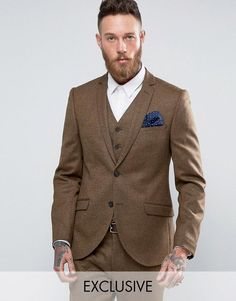 Get this Heart & Dagger's blazer now! Click for more details. Worldwide shipping. Heart & Dagger Skinny Blazer In Tweed - Brown: Blazer by Heart Dagger, Pure wool, Lined with internal pocket, Notch lapels, Button placket, Skinny fit - cut closely to the body, Dry clean, 100% Wool, Our model wears a 40/102cm and is 191cm/6'3 tall, Exclusive to ASOS. Heart Dagger welcomes ASOS to The House of Heart Dagger with an exclusive tailoring collection. A House which has been built on the very…