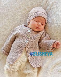"Жакет для малыша ""Sleep Tight"" от Drops Design, вязаный спицами | Блог elisheva.ru"