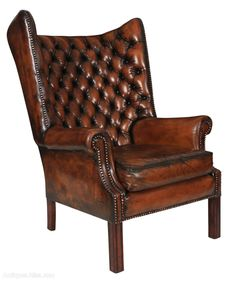 Remarkable 32 Best Leather Wing Chairs Images In 2019 Wing Chair Gmtry Best Dining Table And Chair Ideas Images Gmtryco