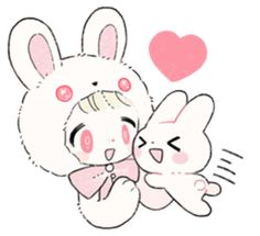 The Princess of Rabbit with One Ear - Creators' Stickers