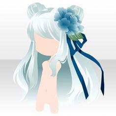 ハオチー料理でみんなハッピー♪ガチャ@セルフィ「来来!中華飯店」登場! anime hair long bangs with buns and flowers clip