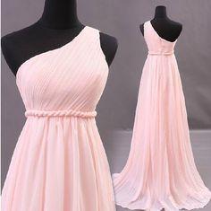 Custom One Shoulder Wedding Dress/Bridesmaids by AnnieTrends, $89.00