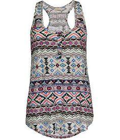 Daytrip Aztec Henley Tank Top - Women\'s Shirts\ Tops | Buckle