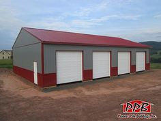 "Building Dimensions: 40' W x 60' L x 12' 6"" H (ID#: 453) 40' Standard Trusses, 4' on Center, 4/12 Pitch, For More Details: http://pioneerpolebuildings.com/portfolio/project/40-w-x-60-l-x-12-6-h-id-453-total-cost-contact-us"