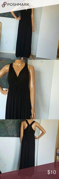 Size medium dress from moda Internacion Black stretchy fresh great condition design beautiful maxi long moda Internacional  Dresses Maxi