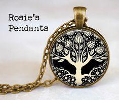 Aubrey Beardsley Tree of Life with Heart Roots - Classic Art Jewelry - Tree of Life Pendant - Art Nouveau Tree