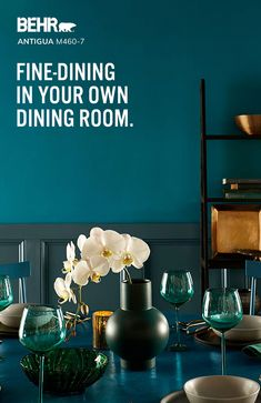 Get the five-star dining experience seven days a week in your home with the right paint color. Explore our most popular BEHR® Paint colors for your dining room to experience nightly fine-dining, without a reservation. Today Let's Paint™.