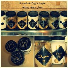 Knock-it-Off Crafts: Spicy and Sassy Spice Jars