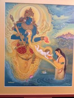 G L N Simha / Kunti Impregnated With Yudhistira…