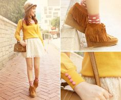 Mango Pudding ♥ (by Dotthy Wong) http://lookbook.nu/look/2625511-Mango-Pudding
