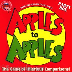 Apples To Apples - one of my favorite games with friends