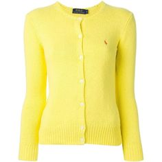 Polo Ralph Lauren Crew Neck Cardigan ($92) ❤ liked on Polyvore featuring tops, cardigans, neuletakit, outerwear, sweaters, polo ralph lauren, polo ralph lauren cardigan, cotton cardigan, yellow cardigan and crewneck cardigan