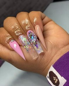 Pink Acrylics, Dope Nails, Nail Inspo, Pedi, Claws, Eye Candy, Random, White Gel Nails, Casual