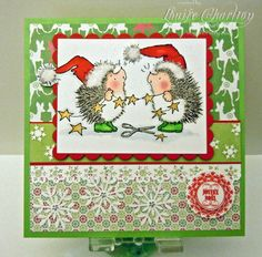 Penny Black Christmas Hedgehogs & Stars card