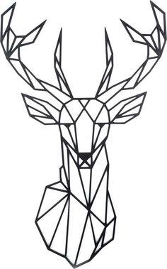 Geometric Deer Head Wall Sticker Geometry Animal Series Decals Vinyl Wall Art Custom Home Decor Size cm Geometric Deer, Geometric Drawing, Wall Stickers Home Decor, Wall Decor, Diy Wall, Christmas Deer, Black Decor, String Art, Nail String