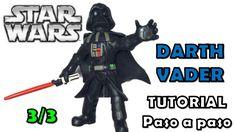 Como hacer a Darth Vader de Disney Infinity de Plastilina 3-3 Star Wars