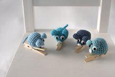 Patrón gratis de un ratón-pinza --- Free mouse pin pattern - El Gallo Bermejo