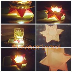 #origamipassion #bright #paperart #fluorescent #origami #loveorigami #new idea in mind #led #star #my concept #W.I.p. (work in progress)