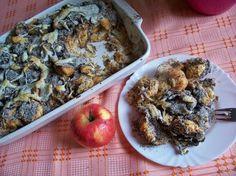 Hozzávalók:10 db kifli15 dkg darált mák1/2 liter tejporcukor2 tojás habja2 almavajElkészítése:A kifliket feldarabolom, majd megöntözöm felforral... Poppy Seed Cake, Hungarian Recipes, Guam, Lactose Free, Feta, Oatmeal, Clean Eating, Pork, Chicken