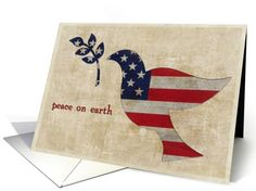 Patriotic christimas, dove olive branch,... | Greeting Card Universe by LeAnne Thomas