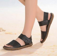 2016 New! HandStitching Leather Sandals for Women Flat Shoes by HerHis