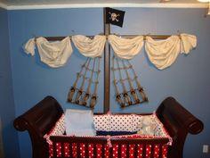 Pirate theme for baby boy nursery