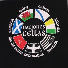 Unisex black T-shirt Celtic Nations. 100% cotton. Souvenir of The Way of St.James. Tax free $10.00