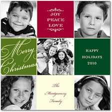 photo collage christmas card idea
