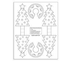 Download this Printable 3D Christmas Trees for Coloring and other free printables from MyScrapNook.com