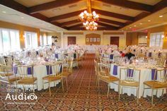 The stately ballroom at the Evanston Golf Club - a favorite of Chicago wedding DJ pros from Fourth Estate Audio. http://www.discjockey.org