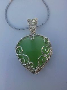 Silver heart with a celtic feel