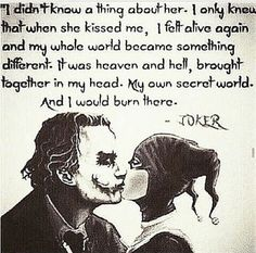 Image discovered by Harley Quinn. Find images and videos about love, quotes and joker on We Heart It - the app to get lost in what you love. Der Joker, Joker Und Harley Quinn, Harely Quinn And Joker, Harley Quinn Drawing, Joker Art, Joker Quotes, Me Quotes, Devil Quotes, Queen Quotes
