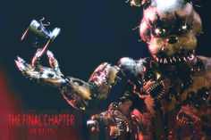 """I brightened the teaser image, if you look closely the text at the bottom reads """"nightmare."""" I personally think that this may be another """"New"""" animatronic like springtrap that was around during Fazbear's Diner. And like springtrap he was always there in all three games before. Tell me what you think for FNAF 4 in the comments."""