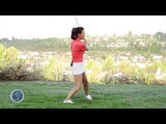 [명품스윙 에이미 조] 골프 레슨 009- 왼다리의 중요성 - YouTube