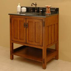 "30"" American Craftsman Vanity Cabinet with Undermount Basin"