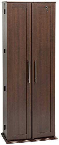 Best Seller Espresso Grande Locking Media Storage Cabinet Shaker