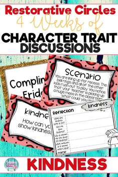 Conduct restorative and community circles in your classroom with these ready to use templates that are full of questions, discussion topics and ideas that can be used during circle time. This product stems around the character trait of kindness and includes discussion questions, scenarios and/or act it out activities. Click the link below to have your students listening, discussing and learning from each other! #restorativecircles #charactertraits #circletime #charactereducation