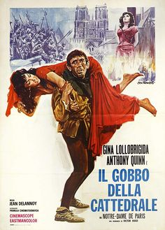 Directed by Jean Delannoy. With Gina Lollobrigida, Anthony Quinn, Jean Danet, Alain Cuny. The timeless tale of the seductive gypsy Esmeralda and the tortured hunchback Quasimodo. Horror Movie Posters, Classic Movie Posters, Horror Films, Gina Lollobrigida, Baba Yaga, Sf Movies, Good Movies, Robert Hirsch, Ezio