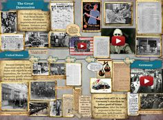 Great Depression: US and Germany Teaching Us History, Teaching American History, History Activities, Hands On Activities, Great Depression, 5th Grade Social Studies, Teaching Social Studies, Instructional Planning, Historia