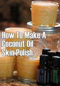 Coconut skin polish