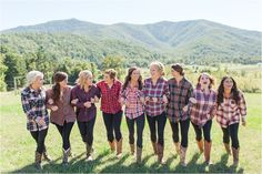 5 Things I wish I Had Done At My Wedding   Bridesmaids flannels   Weddings   Bridesmaid   Mountain Wedding   Virginia Wedding