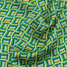 Tissu satin graphique vert - matière Satin motif Graphique - Léger doublure trench ?