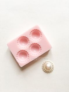 Pearl Gems Jewel Circles for Fondant Gumpaste by LittleQuineMold